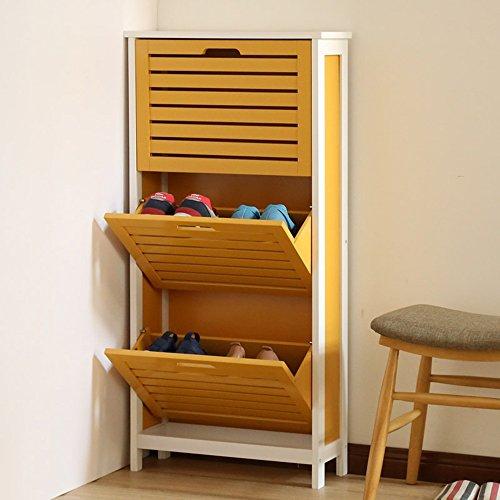 LJHA Boîte à chaussures ultra-mince créatrice / récipient simple moderne de décharge de Foyer / support anti-poussière de stockage de chaussures / casiers (4 couleurs facultatives) Meubles à chaussures ( Couleur : C )