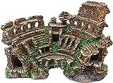 Scultura,Estatuas Ruinas De Templos Romanos Columna Romana Decoración De Acuario Modelo Arquitectónico Romano Artesanía Escultura Estatua Resina Adornos De Arte Esculturas