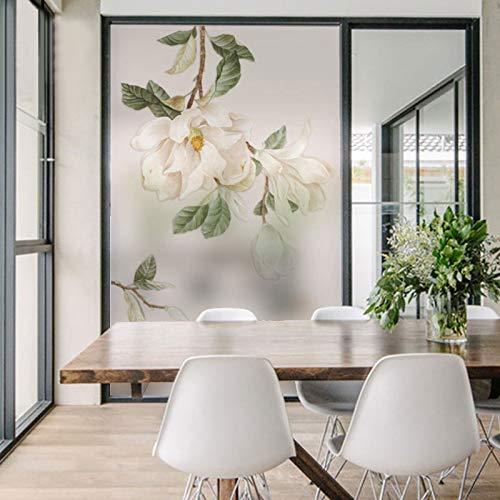 YSHUO raamsticker mat gekleurd glas raamfolie privacyfolie statische slaapkamer badkamer bloemenpatroon ondersteuning