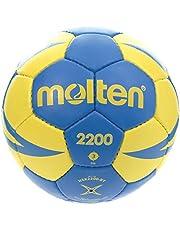 Molten H3X2000 Balón de Balonmano, Azul / Amarillo / Dorado