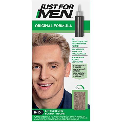 Just for Men Original Formula Mittelblond Haarfarbe, sorgt für die Wiederherstellung der ursprünglichen Farbe für ein natürliches Aussehen – H10