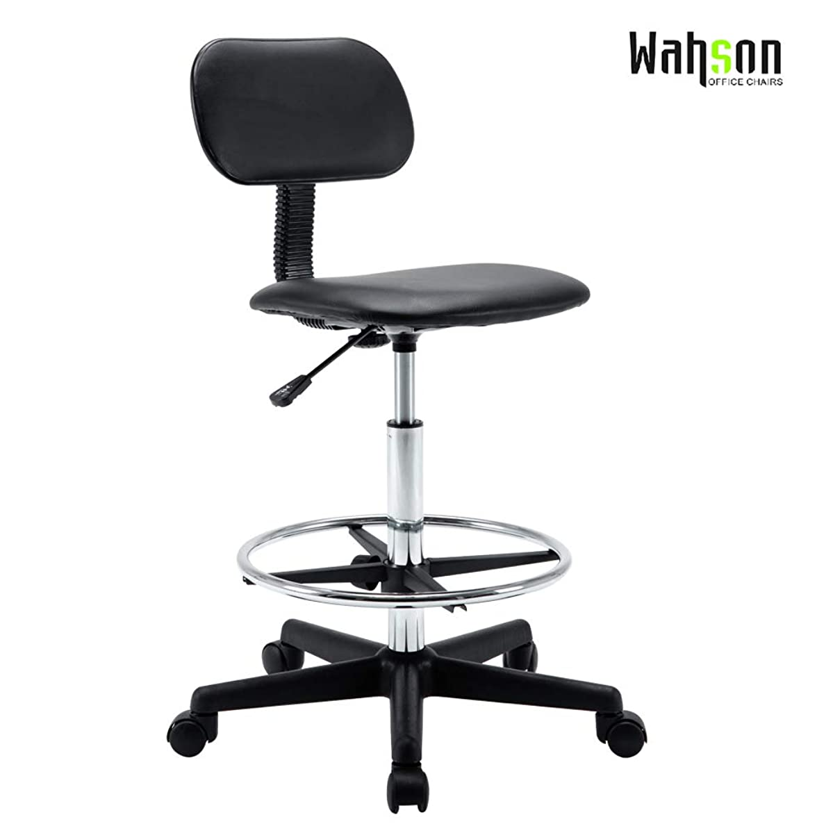 Adjustable Hydraulic Rolling Swivel Bar Stool Chair Salon Spa Stools Rest 360-degree Work Drafting Rolling Stool with Heavy Duty Metal Base for Clinic Dentist Spa Massage Office (20B)