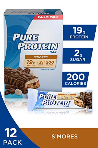 Pure Protein Bars, Healthy Low Carb Snacks, S'mores, 1.76 oz, 6 Count