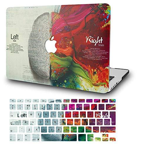 KECC MacBook Pro 13 Hülle (2020/2019/2018/2017/2016, Touch Bar) Schutzhülle Case w/EU Tastaturschutz MacBook Pro 13.3 {A1989/A1706/A1708} (Gehirn)