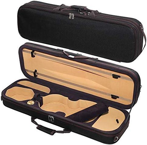 MI VI Super Lightweight 3 6lb Sturdy Violin Travel Case 3 4 With Reflective Safety Strips Hygrometer product image