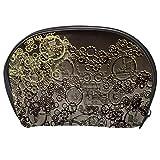 TIZORAX Steampunk Bolsa de cosméticos de viaje, práctica organizadora, bolsa de maquillaje para mujeres y niñas