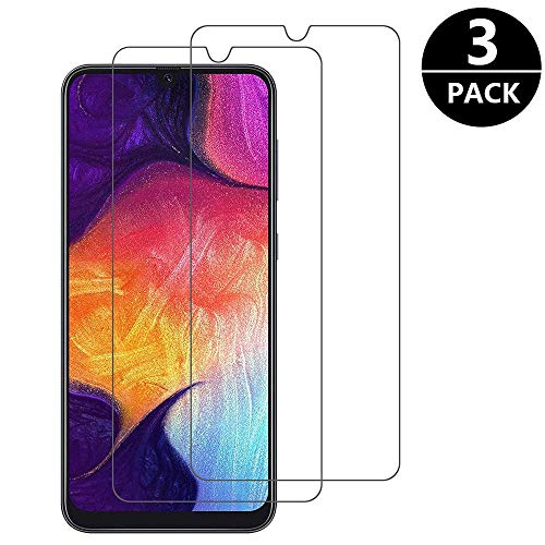 Jalikeke [3 Pack Vetro Pellicola Protettiva per Samsung Galaxy A50, [Anti-graffio, Anti-Impronta] Pellicole Protettive in Vetro Temperato per Samsung Galaxy M30 / Galaxy A50 / Galaxy A30