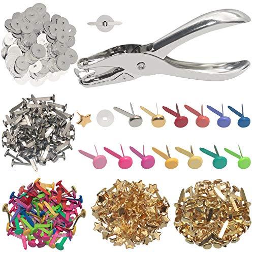kowaku 50 100Pcs Metal Brads Scrapbook Paper Fastener Brads Decorativi Artigianato Fai da Te 5x5x10mm