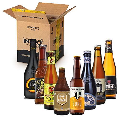 INTRO BEER CLUB Box Degustazione Birre Artigianali - Selezione di Birre dal Mondo'Blonde Beer Top Selection' - Kit con 8 Bottiglie da 33cl - Confezione Idea Regalo Uomo