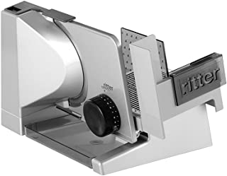 ritter solida 4 Electrical Food Slicer with eco Motor, Made in Germany, Full Metal, 65 W