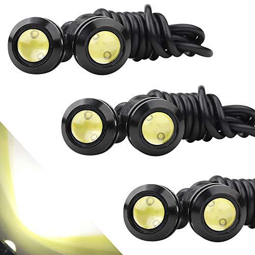 10Pcs 18mm Eagle Eye High Power 4014 6SMD White 12V Car Fog DRL Bulb Signal Lamp
