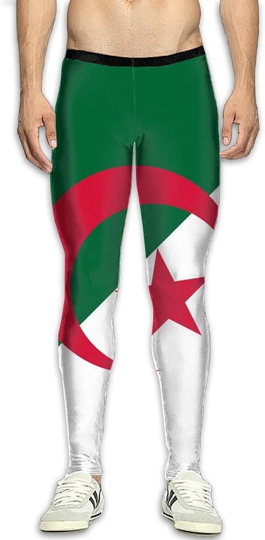 Nollm Flag of Algeria Compression Men's Gym Training Pants 3D Print Fitness