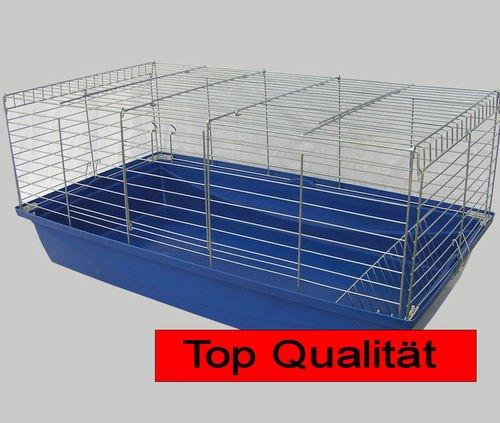 Hasenkäfig Meerschweinkäfig Käfig 1m blau/chrom