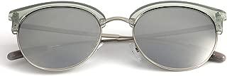 Women 100% UV400 Protection Polarized Sunglasses (Color : Silver Frame/Silver Lens)