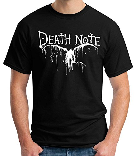 35mm - Camiseta Hombre Death Note - Logo - Anime - Negro - Talla s