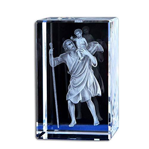 aasdf Estatuas de Jesús, estatuilla, Adornos Decorativos para el hogar, Tallado de Cristal Creativo, Objeto Sagrado católico, decoración Cristiana