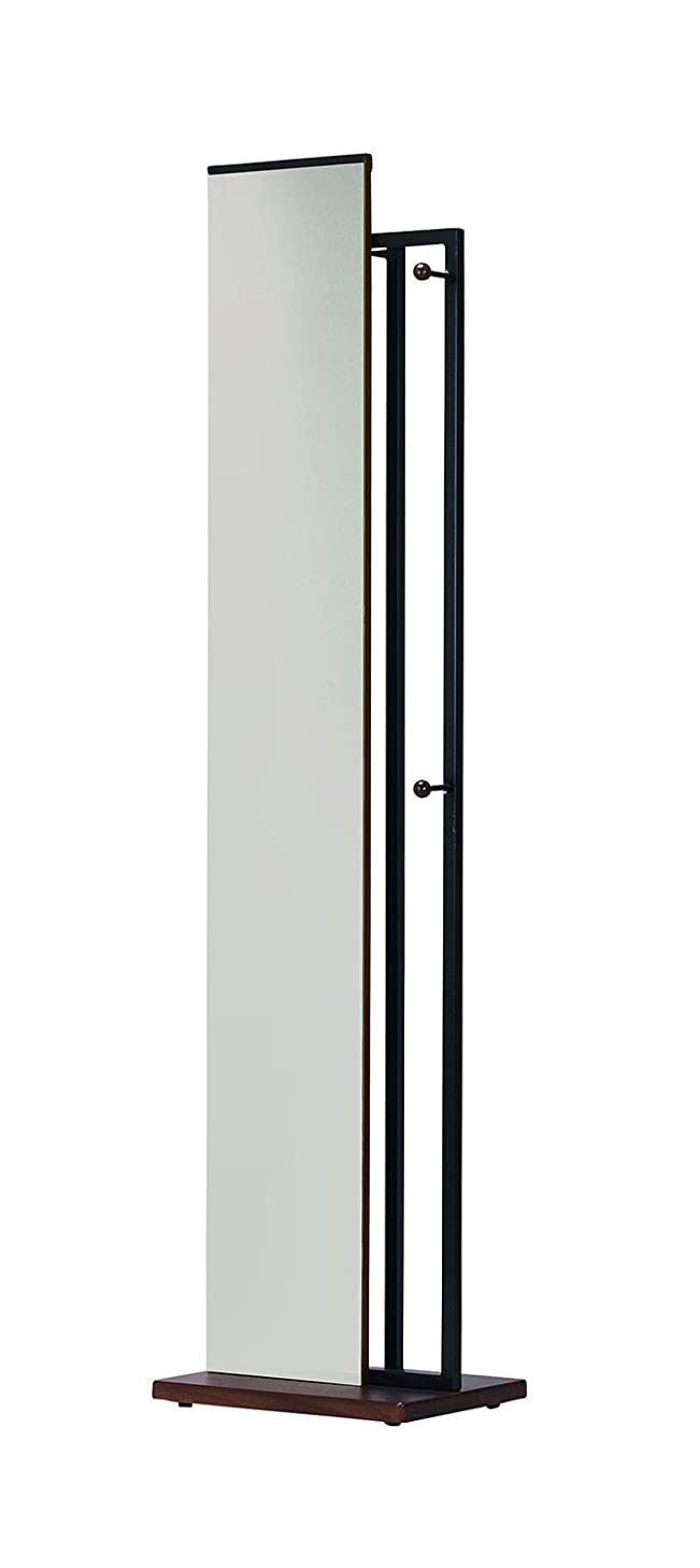 コンクリート貼り直すムスkoeki ハンガー付ミラー ブラウン HM400(BR)