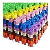 AWSAD Tapis D'éveil Épaissir Antidérapant Double Face Utilisation Intérieure/Extérieure Tapis Rampant for Enfants EVA, 9 Couleurs, 60x60x2.5cm (Color : Pink, Size : 60x60x2.5cm(8 Tiles))