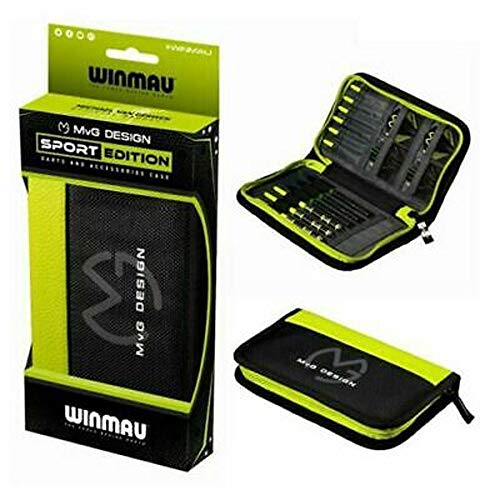Winmau MvG Design Dart Case, Michael Van Gerwen, Slimline,11 Compartments, Sports Edition