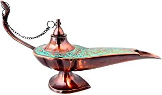 KHUMYAYAD Brass Oil lamp Antique Vintage Design Oil lamp Fully Functional & Decorative lamp