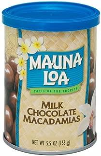 Mauna Loa Macadamias, Milk Chocolate, 5.5-Ounce Containers (Pack of 3)