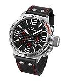 TW Steel Reloj Cronógrafo para Unisex de Cuarzo con Correa en Cuero CS10