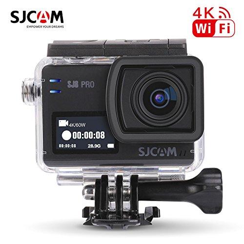 Tarjeta de 16GB TF + SJCAM SJ8 Pro WiFi cámara de acción Deportiva, HD 4K 60fps12MP 30M Videocámara Resistente al Agua Zoom Digital 2.33