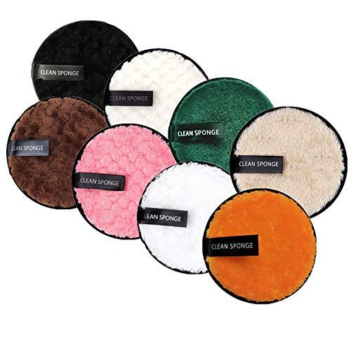 8 Pezzi Dischetti Struccanti Lavabili,Salviette Struccanti Riutilizzabili,Dischetti Struccanti Organico Microfibra,Makeup Remover Pads con Sacco per il Bucato in Rete