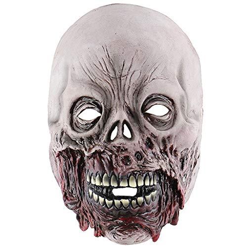 Halloween Masker Zombie griezelige Scary Halloween Cosplay Voor volwassenen Party Decoratie Props Volledige Hoofd Masker.