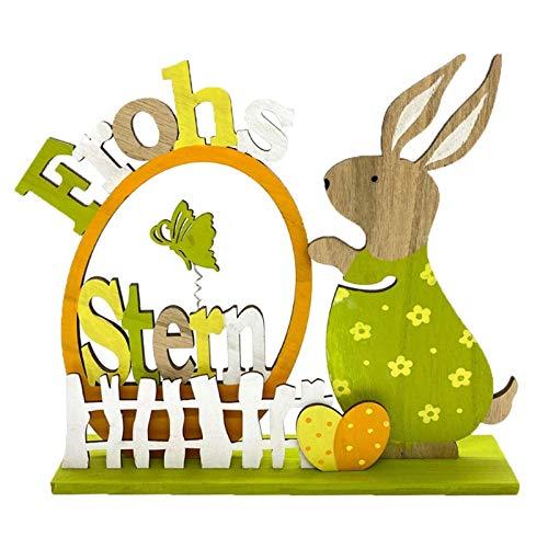 Vurucaa Conejo de madera Familia Conejo Casa Decoración de la Mesa de San Valentín 2021 DIY Adornos de Pascua Decoraciones