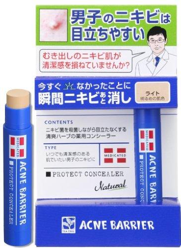Mens Acne Barrier Face Concealer - Light - 5g