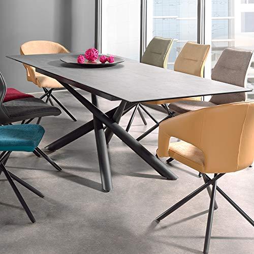 NOUVOMEUBLE Table Extensible en céramique et métal Malta