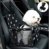 NO Collapse Dog Car Booster Seats Safety Seat Car Seat Cover with Dog Seat Belt Non Slip...