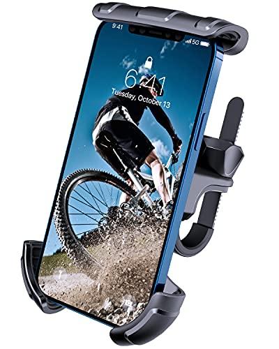 VUP Porta Cellulare da Bici & Moto, Supporto Telefono Scooter MTB, Anti Vibrazione/Universale, Compatibile con iPhone 12 Pro 11 Xs Max SE 8 6 plus, Samsung Galaxy Note HUAWEI XIAOMI, 4-6,7' Smartphone