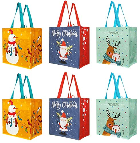 Earthwise Reusable Grocery Bags Shopping - Totes (Pack of 6) (Xmas-2019)
