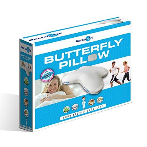 MPS Dr.Fit Butterflywing Kissen| Nackenstützkissen, weiß/blau, größe: 46 x 53 cm, 8717752023998