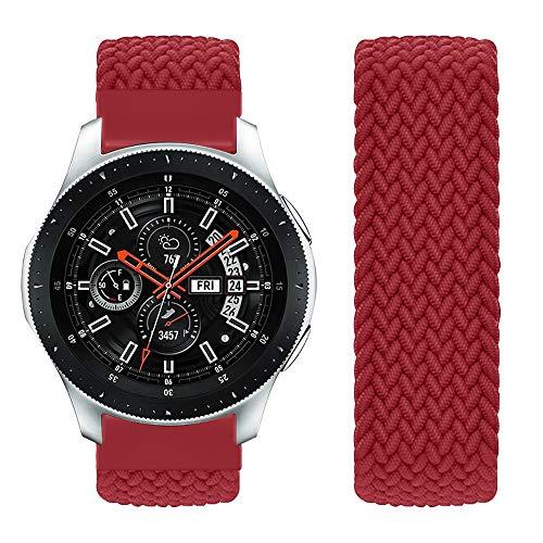 Vozehui Compatible con Samsung Galaxy Watch de 46 mm, correa de repuesto para Samsung Gear S3 Frontier/Gear S3 Classic/Galaxy Watch de 46 mm, de nailon suave y transpirable