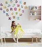 Kath and Cath - Adhesivo decorativo para pared, diseño de letra abecedario infantil