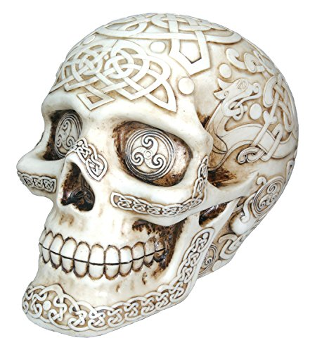 Celtic Skull Collectible Tribal Figurine