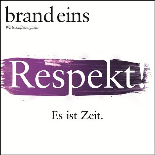 brand eins audio: Respekt audiobook cover art