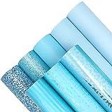 8 Stück 20,3 x 30,5 cm blaue Kunstlederblätter inklusive