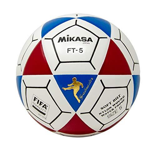 Mikasa FT5 Goal Master - Pallone da calcio, colore: Blu/Rosso/Bianco, misura 5