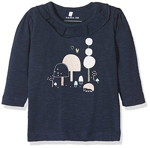 Name It Nitdilema Ls Top F NB T-Shirt À Manches Longues, Bleu (Dress Blues), 68 Bébé Fille