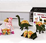 Family 5 Pack Unicorn & Dinosaur Taco Holder Set - Taco Fun for The Parents and Kids. Includes a Unicorn , Triceratops, Brachiosaurus Brontosaurus, and 2 Wave Taco Holders Great Family Value Pack!