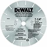 DEWALT DW3330 7-1/4-Inch Iron and Steel Cutting Segmented Saw Blade with 5/8-Inch and Diamond Knockout Arbor,Silver
