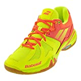 Babolat Shadow Spirit Women's Court Shoes, Tennis/Badminton/Racquetball/Squash, Flash Yellow/Fluo Orange (Size 7.5 US)