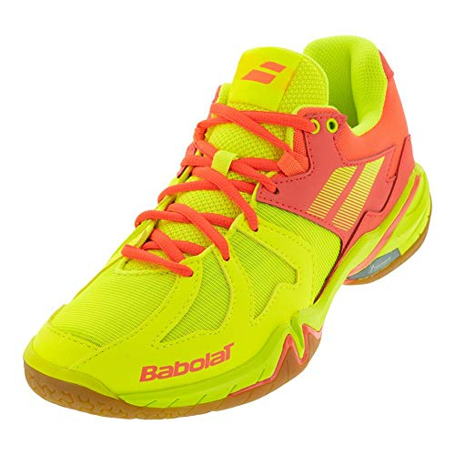 Babolat Shadow Spirit Women's Court Shoes, Tennis/Badminton/Racquetball/Squash, Flash Yellow/Fluo Orange (Size 9.5 US)
