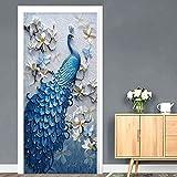 YIER LIFE 3D Tür Wandbild Aufkleber Folie Poster Tapete