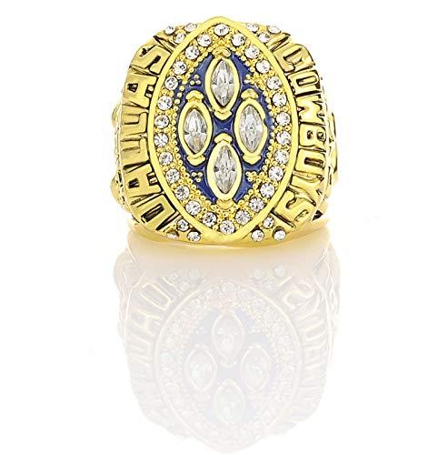 YANGLIXIA Ringe American Football 1993 Cowboys Championship Ring Rugby Cowboys Super Bowl Championship Ring Fans Souvenir Ring Gold-12#