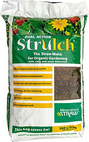 Strulch Mineralised Straw Mulch 100L Garden, Brown